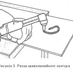 Рисунок 3 — Резка по криволинейному контуру.