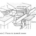 Рисунок 2 — Газовая резка по прямой линии.